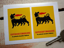 SUPERCORTEMAGGIORE Small Car Stickers Ferrari Iso FIAT Alfa Bike Agip Race Rally