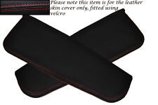Red Stitching Fits Daihatsu Copen 2003 2x Sun Visors Leather Covers Only