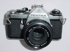 Pentax ME 35mm Film SLR Camera with Pentax 50mm F/2 SMC Lens