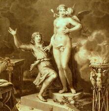 Pigmalione e la dea Afrodite - Incisione originale 1700