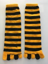 Pittsburgh Steelers Black Gold Knee High Toe Socks Ladies Or Bee Costume