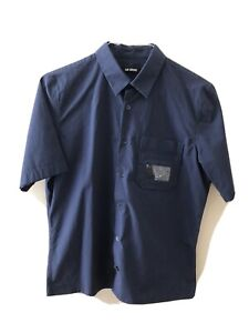 Raf Simons Short Sleeve Button Up Shirt Size 46, S-M