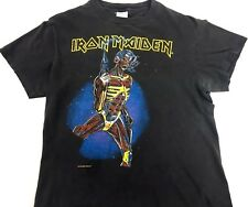 Vintage Iron Maiden Shirt 1987 Somewhere In Time Concert Shirt Band Tee Black S