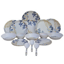 Melamine Dinner Set Czar 24 PIC NEW DINNER SET 1005 Blue Flower