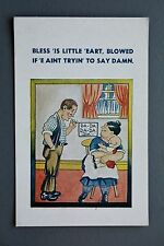 R&L Postcard: Comic, AT Ltd, Bless is Heart, Baby Learning to Speak, Pipe Smoker