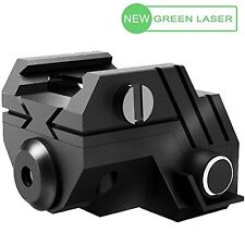 LASPUR Mini Tactical Rechargeable Low Profile Mount Green Laser Sight for Pistol