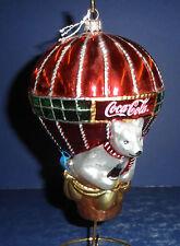 Polonaise Glass Ornament: Coke Hot Air Balloon, AP939, New in Box