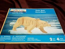 3D Polar Bear - Creatology Wooden Craft Assembly Puzzle Project NIP New 4 Sheets