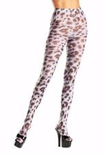 Sheer Animal Print Tights Pantyhose Black Spotted Cow Costume Hosiery BW684