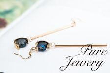 Drop earrings handmade woman girls copper round jewellery designed long drop