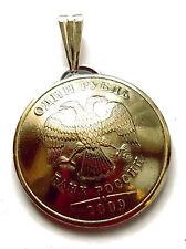 Russian Eagle Coin Pendant Eagle Vintage Necklace Jewelry Unique Charm Foreign