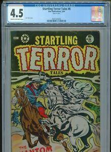 1954 STAR PUBLICATIONS STARTLING TERROR TALES #8 L.B. COLE COVER CGC 4.5 BOX13