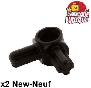 Lego technic - 2x Axe Axle connector 2 axles 90° noir/black 10197 NEUF