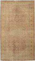 "Hand-knotted Turkish Carpet 5'4"" x 9'10"" Antalya Vintage Traditional Wool Rug"