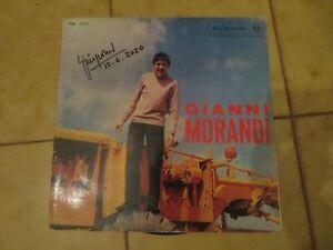 """LP  """"GIANNI MORANDI"""" di GIANNI MORANDI, ALBUM OMONIMO, autografo originale"""