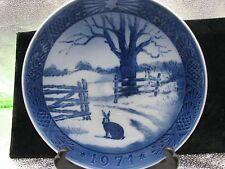 """Royal Copenhagen Christmas Plate 1971 """"Hare In Winter"""""""