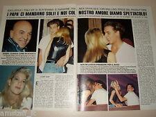 NICK SAVALAS TORI SPELLING clipping articolo fotografia foto photo 1993 AS38