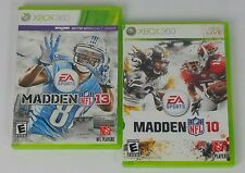 Madden 10 Madden 13 XBOX 360 Live Kinect NFL Football 2 Video Game Lot B9-11