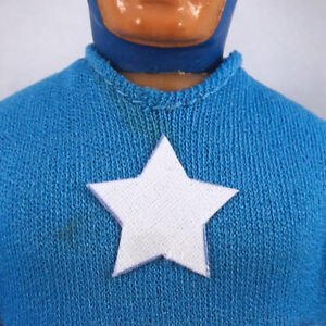"Mego 8"" Captain America Action Figure Part- Pre-Cut FABRIC Star Sticker,Decal"