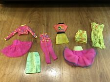 Vintage Barbie doll Clothes 90s Neon Lot 8 pieces