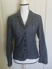 J.Jill Denim Jean Jacket Blazer Coat Lightweight 100% Cotton Women Size 2