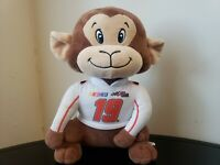 "Nascar Carl Edwards #19 Monkey Plush 10"" Stuffed Animal Toy Joe Gibbs Racing"