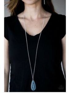 NEW Paparazzi Jewelry Necklace Tiki Tease Blue NWT with FREE Earrings
