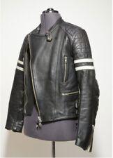 Vintage Men's Genuine Leather Biker jacket Black XS