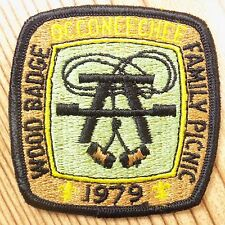 Vintage Boy Scout Patch Badge Occoneechee Council Wood Family Picnic BSA 1979