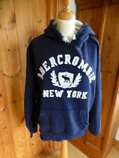 Abercrombie & Fitch  Ladies Hoodie size L Navy blue with logo- hardly worn