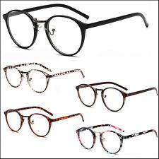 New Clear Lens Glasses Unisex Mens Womens Round Oval Metal Bridge Plastic Frame