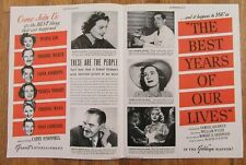 1946 The Best Years Of Our Lives Samuel Goldwyn Movie Magazine Reprint 2 Page Ad