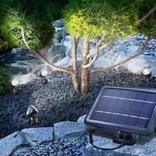 Solarspot Quattro Solar Strahler Solarleuchte LED Gartenleuchte esotec 102142