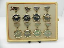 COLLECTABLE USSR SOVIET UNION AIRCRAFT 1922-1946 PIN BADGES SET IN THE BOX