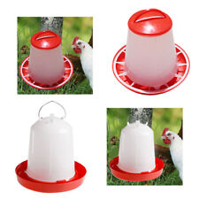 2pcs Robust Chicken Quail Poultry Chick Hen Drinker Food Feeder Waterer 1.5L