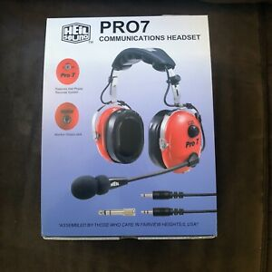 Heil Sound Pro 7 Headset & boom mic in Red - No reserve price