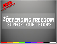 Support Our Troops Decal Sticker Vinyl Bumper Military Patriotic USA Truck  #118
