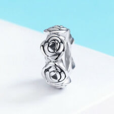 Women Jewelry Pendant 925 Sterling Silver Rose Flower Wreaths Charm For Necklace