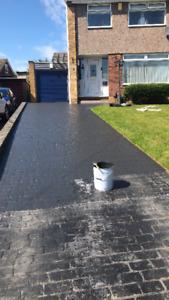 Imprinted concrete coloured driveway sealer paint pattern imprint 20 litre GREY