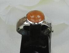 MANDARINGRANAT Ring gefaßt in 925er Silber