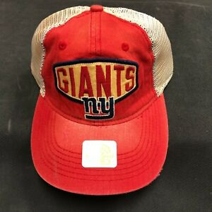 NFL New York Giants Clean Up Fitted Size Reebok Retro Sport Red Hat Cap NEW