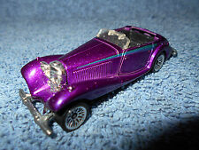 1982 HOT WHEELS 1937 MERCEDES 540K PURPLE 1:64 DIECAST CAR MISSIING ROOF - NICE