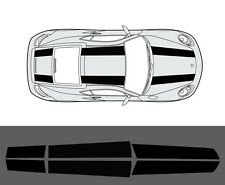 Porsche Cayman 2005-2012 (987C) 911R Style Twin Stripe Decal Set Plain