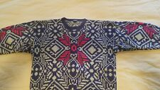 Vintage Gant The Rugger Mens Sweater snowflake Christmas winter hand knit wool