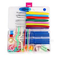 Set of Knitting Knit Crochet Needle Hook Basic Tools Accessory Supply Tool Case