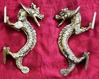 Lord Ganesha Door Handle Brass Hinduism Spiritual Elephant Design Door Handle