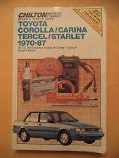 Chilton's Toyota Corrolla/Carina/Tercel/Starlet 1970-1987 Repair Guide (#1603)