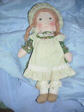 "9"" vintage cloth doll holly hobby hobbie hollie rag calico smaller doll toy amy"