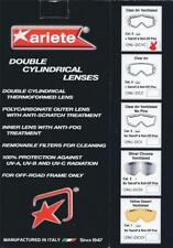 Ariete goggle spare part 12961-DCVC double clear Lexan lense with pins AND vents