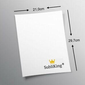 Sublimation SubliKing® Sublimationspapier DIN A4 für T-Shirts Tassen 100 Blatt
